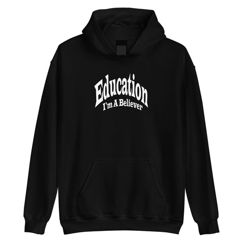 EDUCATION I'M A BELIEVER PULLOVER HOODIE ( Black )
