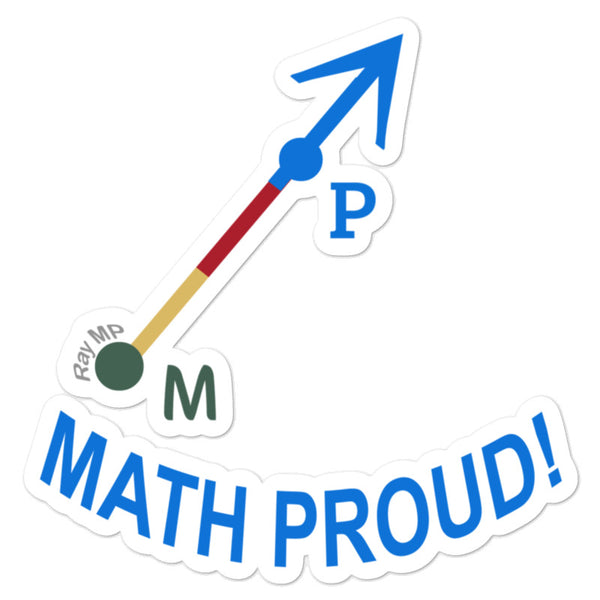 Math Proud Official Ray - Ray MP Sticker, Free + Free Shipping