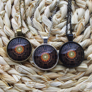 Fashion Buddhist Sri Yantra Pendant Necklace Sacred Geometry Sri Yantra Jewelry ,