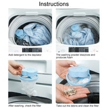Load image into Gallery viewer, Laundry Reusable Floating  Washing Machine Lint Mesh Trap Hair Catcher Filter Bag