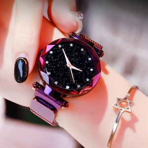 Women Starry Sky Quartz Watch with Luxury Magnetic Buckle