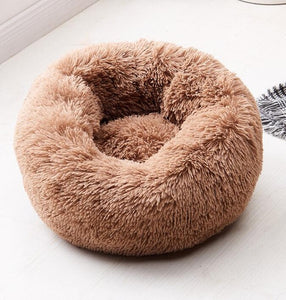 Round Plush Cat/Small Dog Sleeping Bed