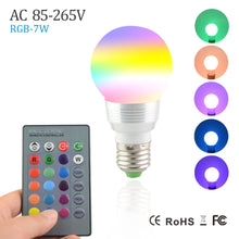 Load image into Gallery viewer, Dim-able RGB LED Bulb w/Remote Control ,Christmas Holiday Decor Lamp