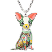 Load image into Gallery viewer, Enamel Chihuahuas Dog Choker Necklace Chain Pendant