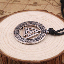 "Load image into Gallery viewer, Viking Odin Rune Amulet Pendant Men's Necklace ""Scandinavian"""
