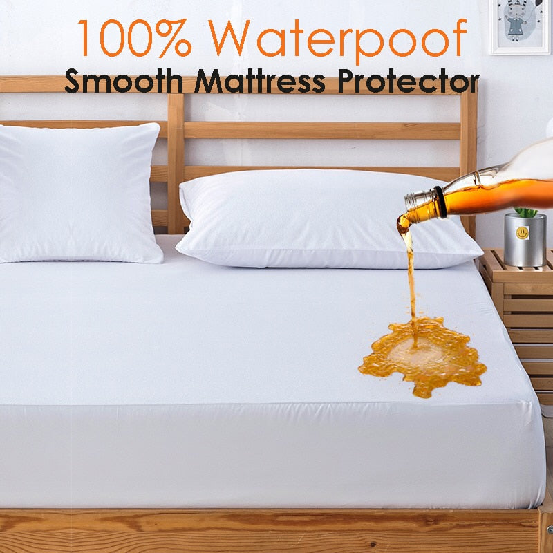 Hypoallergenic Waterproof Smooth Top Mattress Protector  Against Dust Mites And Bacteria