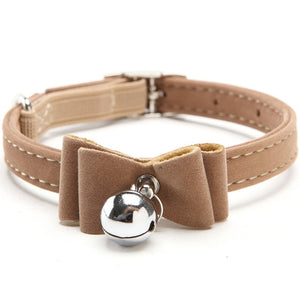 3 Styles of Cute Cat, Dog Adjustable Leather Collars