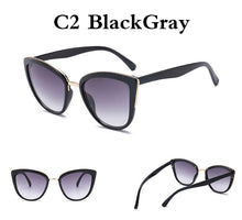 Load image into Gallery viewer, Cat Eye Luxury Designer Vintage Sun Glasses UV 400
