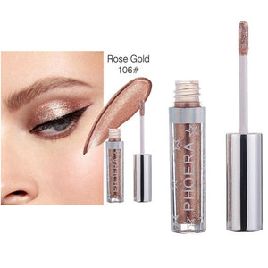 2018 Brand New  PHOERA  Magnificent Metals Glitter and Glow Liquid Eye Shadow