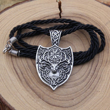 Load image into Gallery viewer, Large Deer Sekira Viking Nordic Talisman Pendant Necklace