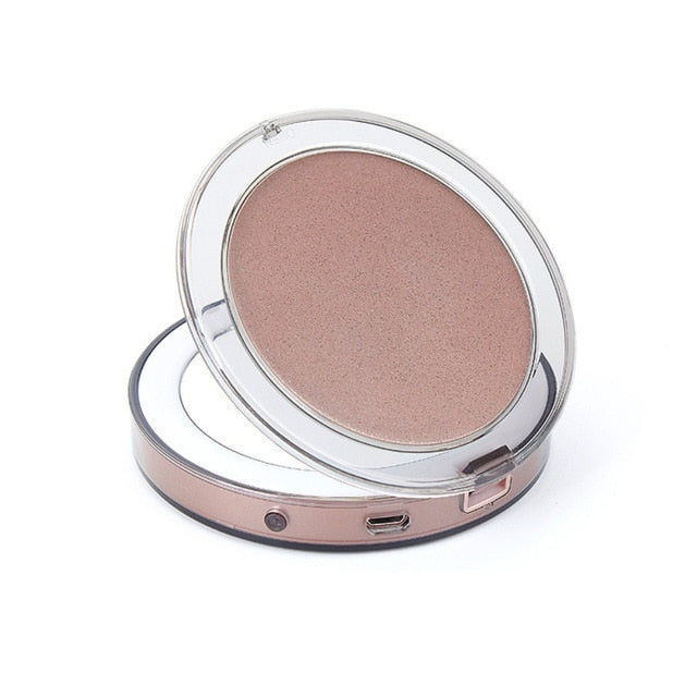 LED Touch Screen Makeup Mirror with 3X Magnifying !