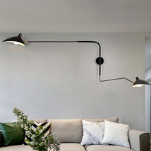 Load image into Gallery viewer, Designer Black or White Industrial Retro Loft Rotating Vintage Wall Lamps