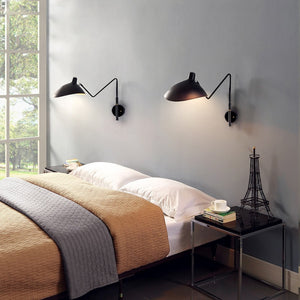 Designer Black or White Industrial Retro Loft Rotating Vintage Wall Lamps