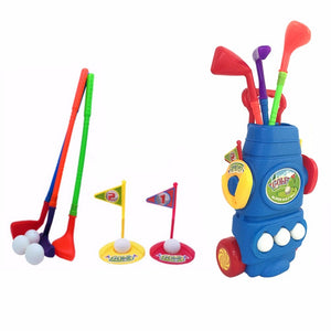 Kids Plastic Golf Toy Set with Bag