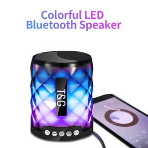 Colorful Diamond Cut Led Wireless Bluetooth Portable Speaker
