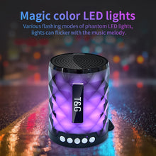Load image into Gallery viewer, Colorful Diamond Cut Led Wireless Bluetooth Portable Speaker