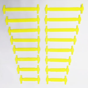 No Tie Shoelaces Elastic Silicone Laces 16pcs/lot