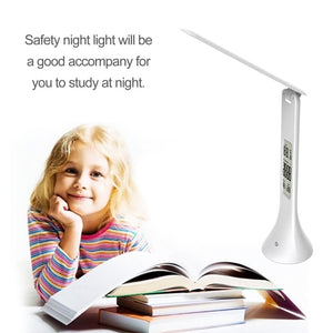 Fold-able Touch LED Reading Light Table Lamp with Digital Calendar
