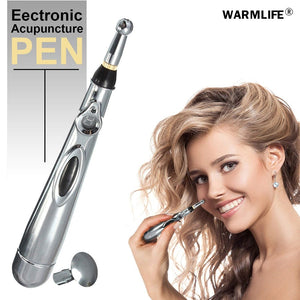 2019 Newest Electronic Acupuncture Pen Electric Meridians Laser Therapy Heal Massage Pen