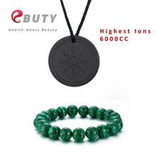 Load image into Gallery viewer, UNISEX Tourmaline Healing Bracelets &Tourmaline Charms Pendant 6000CC