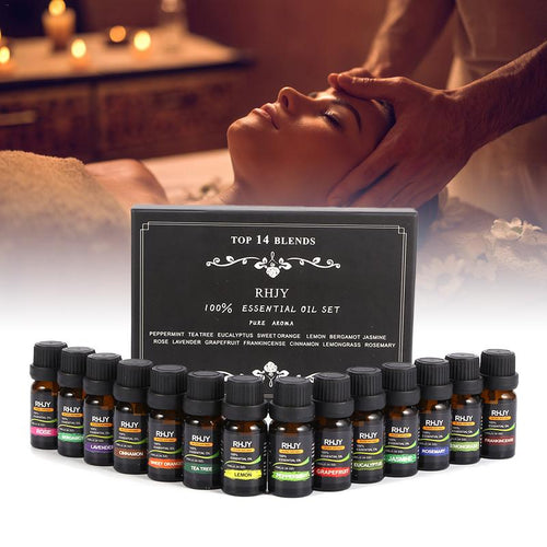 100% Pure Plant Aromatherapy Diffuser Essential Oil 14 PC Set