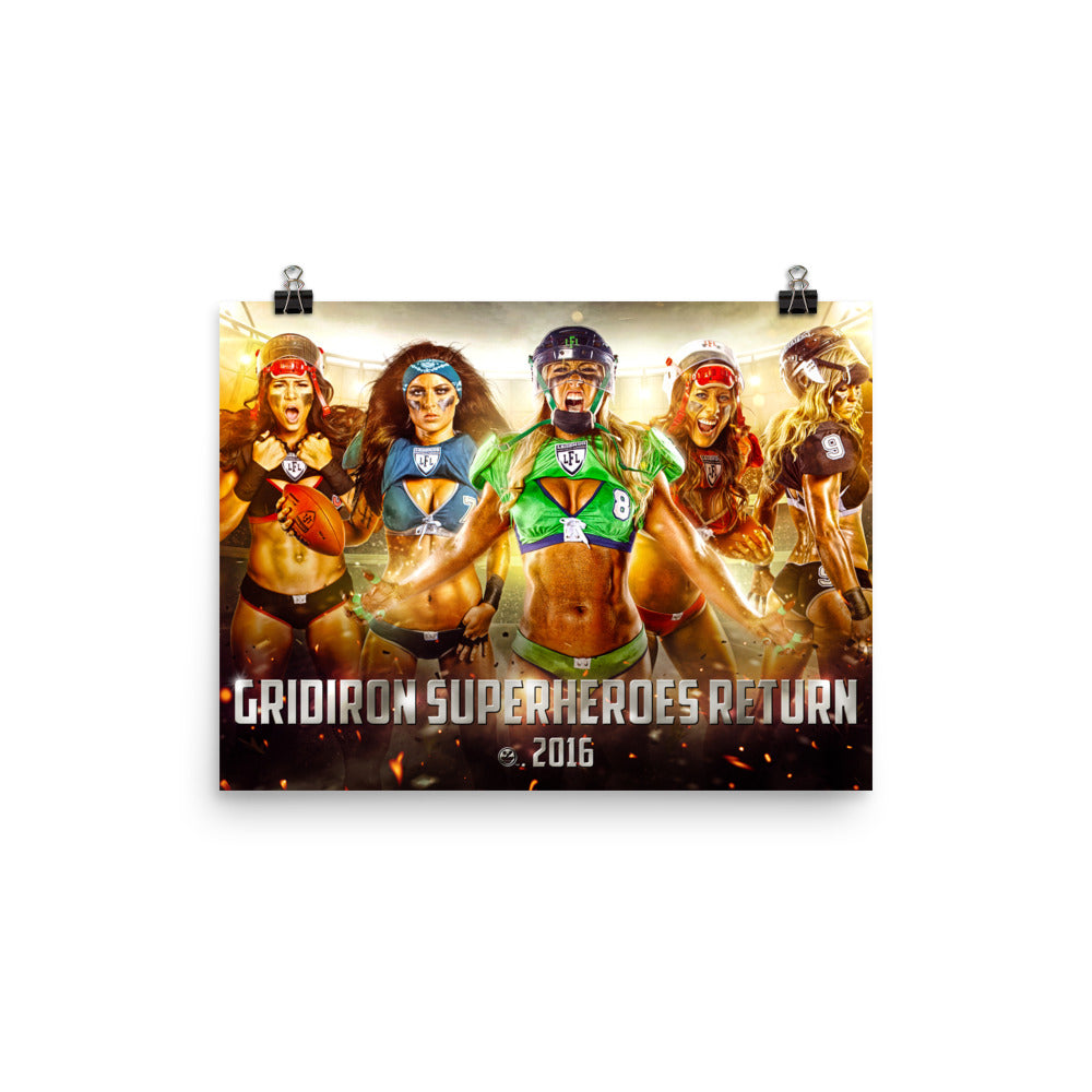 Gridiron Superheroes Return Photo Paper Poster