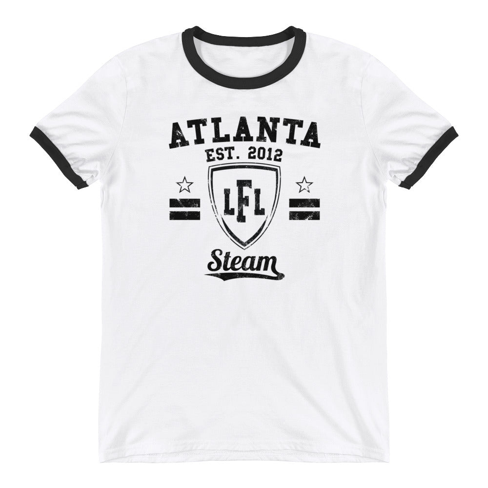 Atlanta Steam Vintage Shield Men's Ringer Tee
