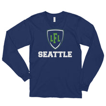 Load image into Gallery viewer, Seattle Mist City Shield Unisex Long sleeve Tee