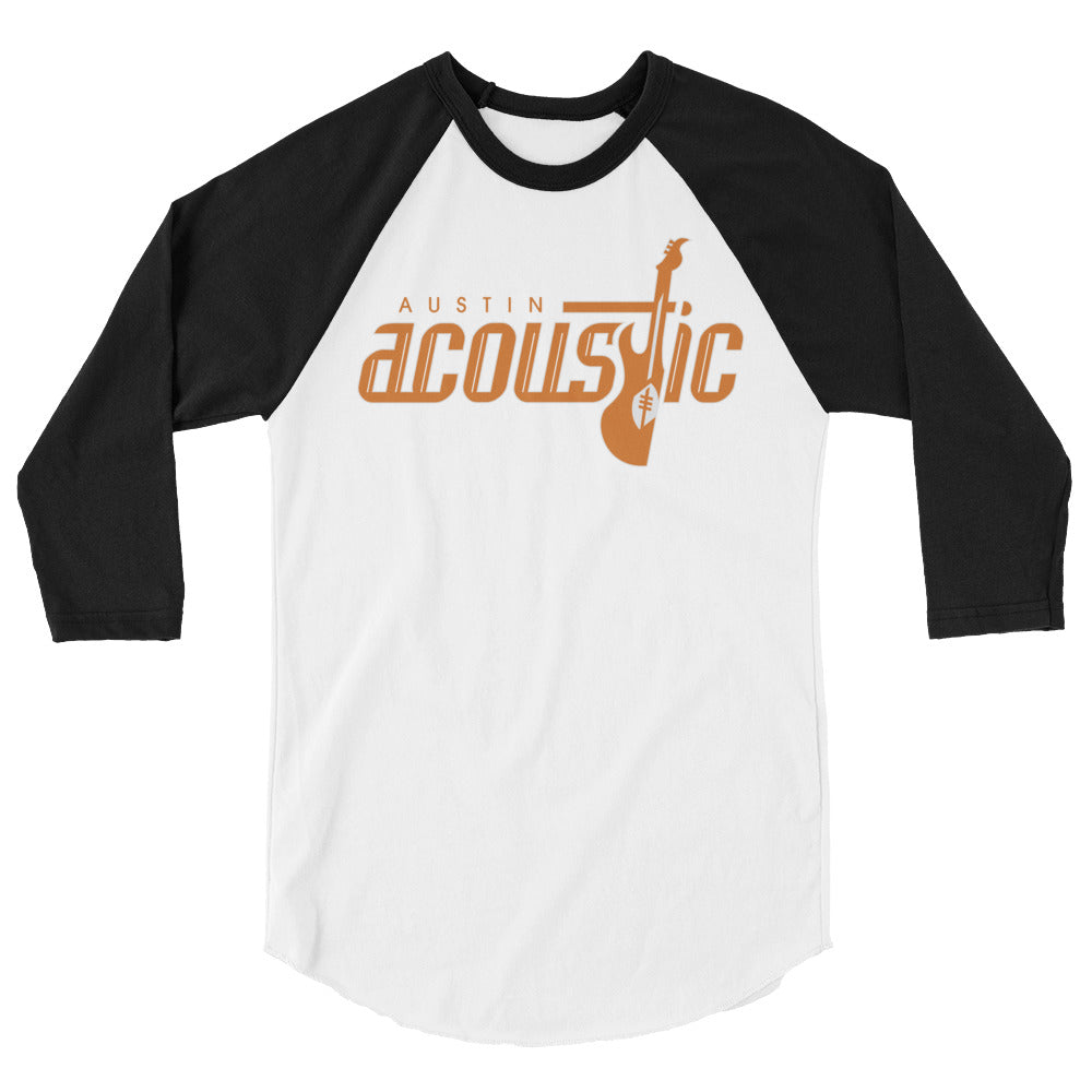 Austin Acoustic Team Logo 3/4 Raglan Men's Tee