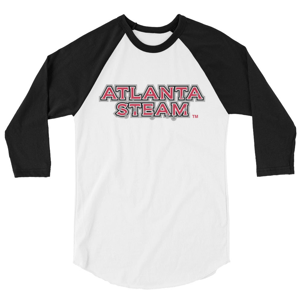 Atlanta Steam Team Logo 3/4 Raglan Men's Tee