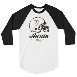 Austin Acoustic City Helmet 3/4 Raglan Men's Tee
