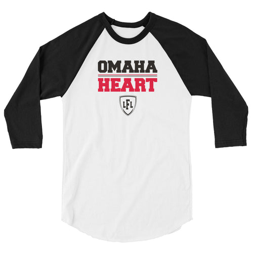 Omaha Heart Team Block 3/4 Raglan Men's Tee