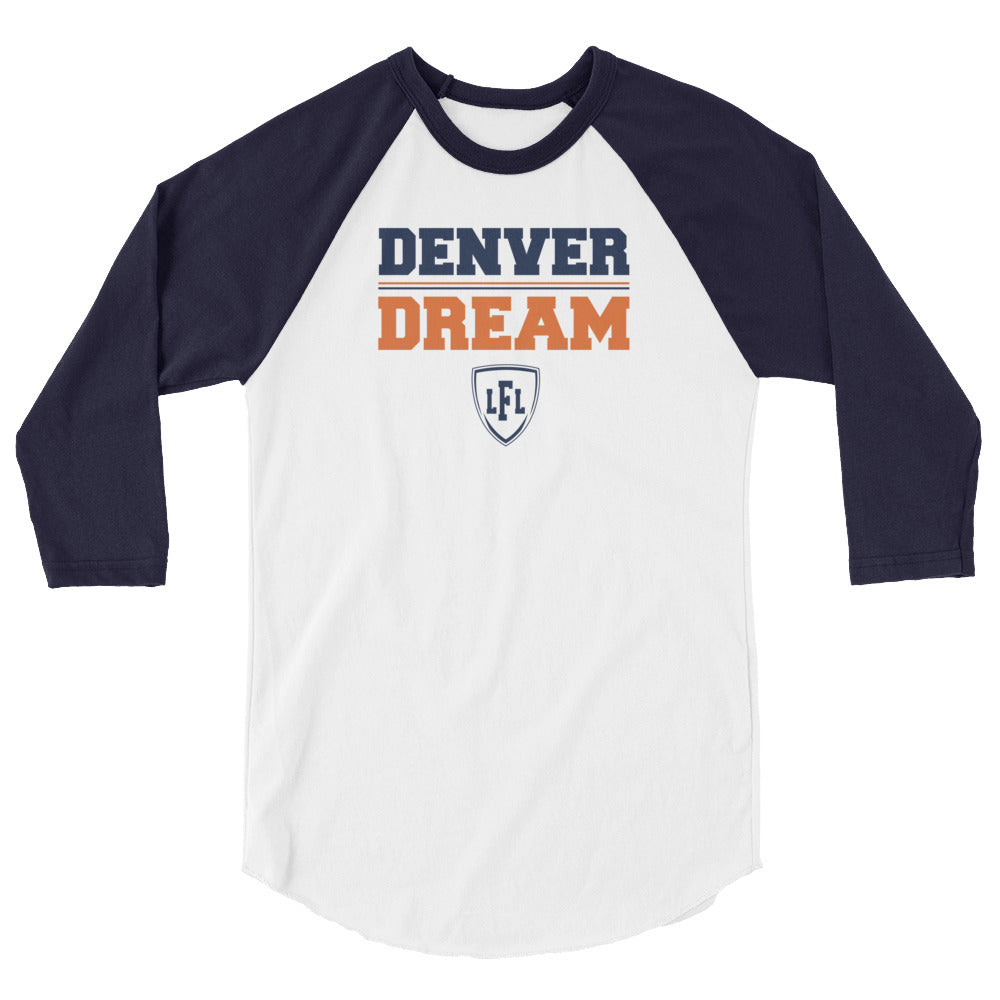 Denver Dream Team Block 3/4 Raglan Men's Tee