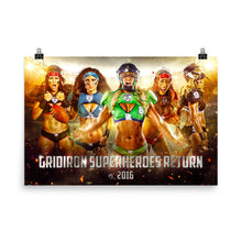 Load image into Gallery viewer, Gridiron Superheroes Return Photo Paper Poster