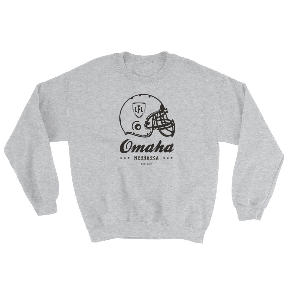 Omaha Heart City Helmet Men's Crew Sweatshirt