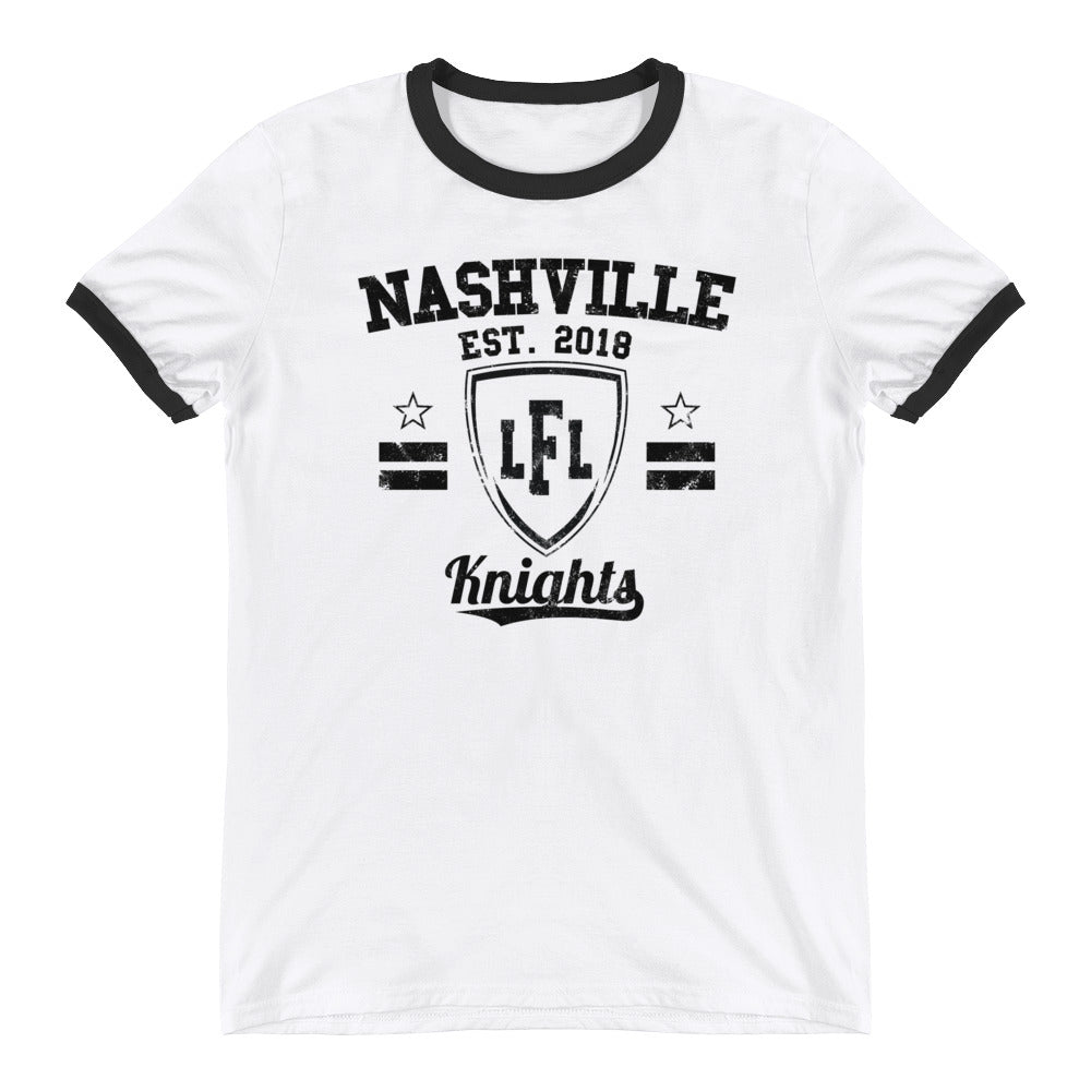 Nashville Knights Vintage Shield Men's Ringer Tee