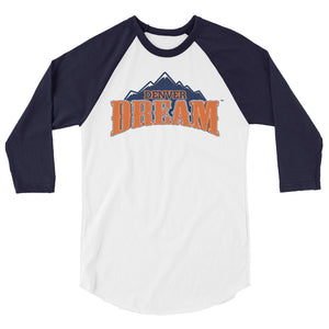 Denver Dream Team Logo 3/4 Raglan Men's Tee