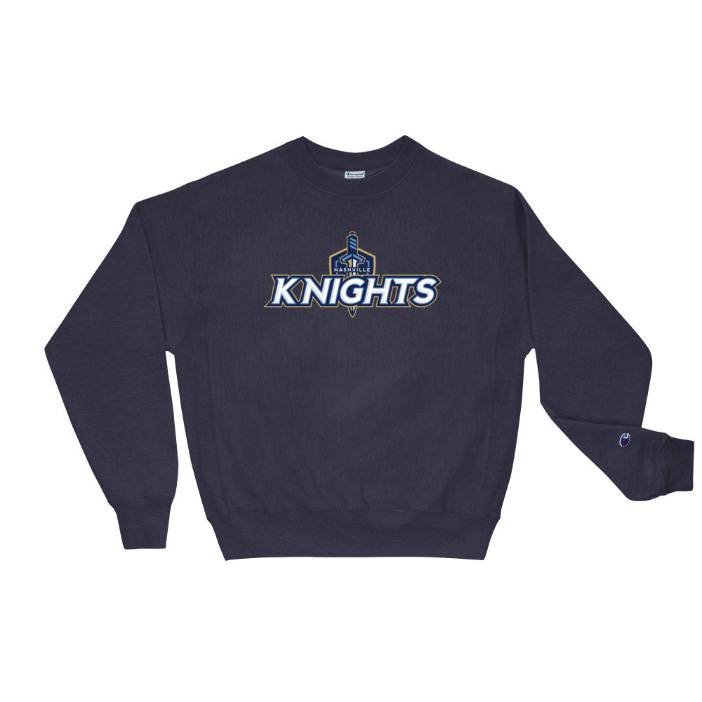 Nashville Knights Team Logo Men's Crew Sweatshirt