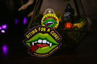 Biting For A Cure Sticker