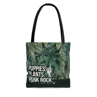 Puppies. Plants. Punk Rock. Tote Bag