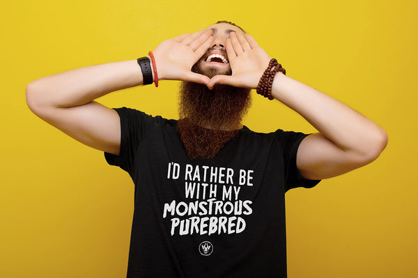 I'd Rather Be With My Monstrous Purebred Unisex Tee