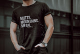 Mutts. Mountains. Metal. Unisex Tee