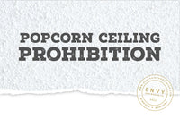 Popcorn Ceiling Prohibition
