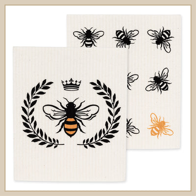Bee Dishcloth Set of Two - Envy Paint and Design