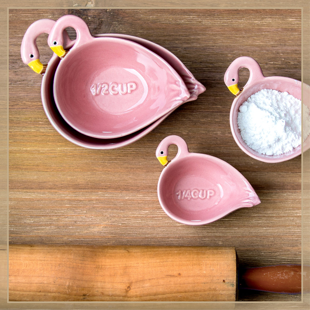 Flamingo Measuring Cups - Envy Paint and Design