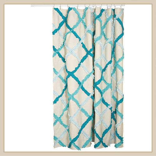 Danica Ruffle Shower Curtain - Envy Paint and Design