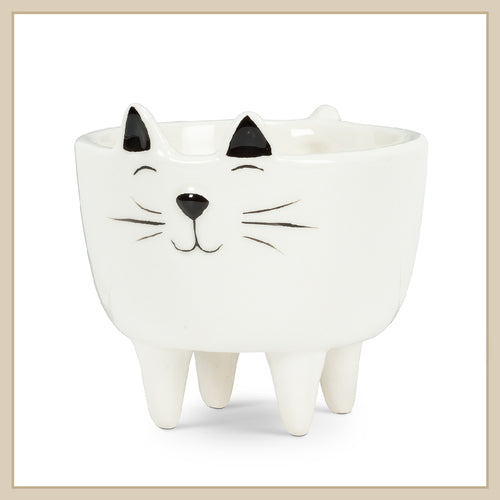 Cat on Legs Planter - Envy Paint and Design