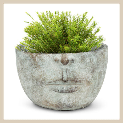 Half Face Planter - Envy Paint and Design