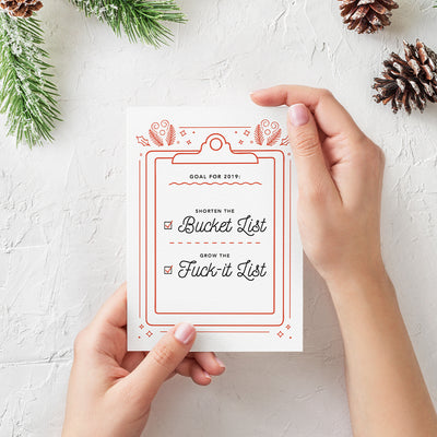 Bucket List Greeting Card - Envy Paint and Design