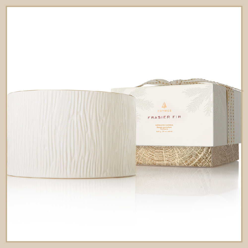 Thymes Frasier Fir Ceramic 3-wick Candle - Envy Paint and Design